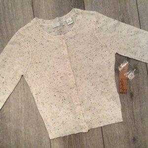 NWT Kersh Cream & Confetti Cardigan Size L